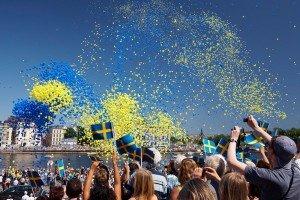 Feierlichkeiten in Stockholm zum Nationalfeiertag am 6. Juni