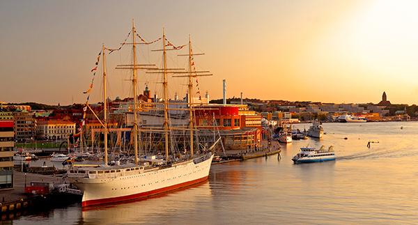 Der Hafen und die Oper von Göteborg