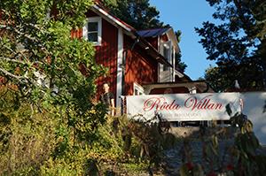 Café Röda Villan auf den Fjäderholmarna in Stockholm