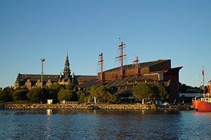 Blick auf das Vasa-Museum in Stockholm