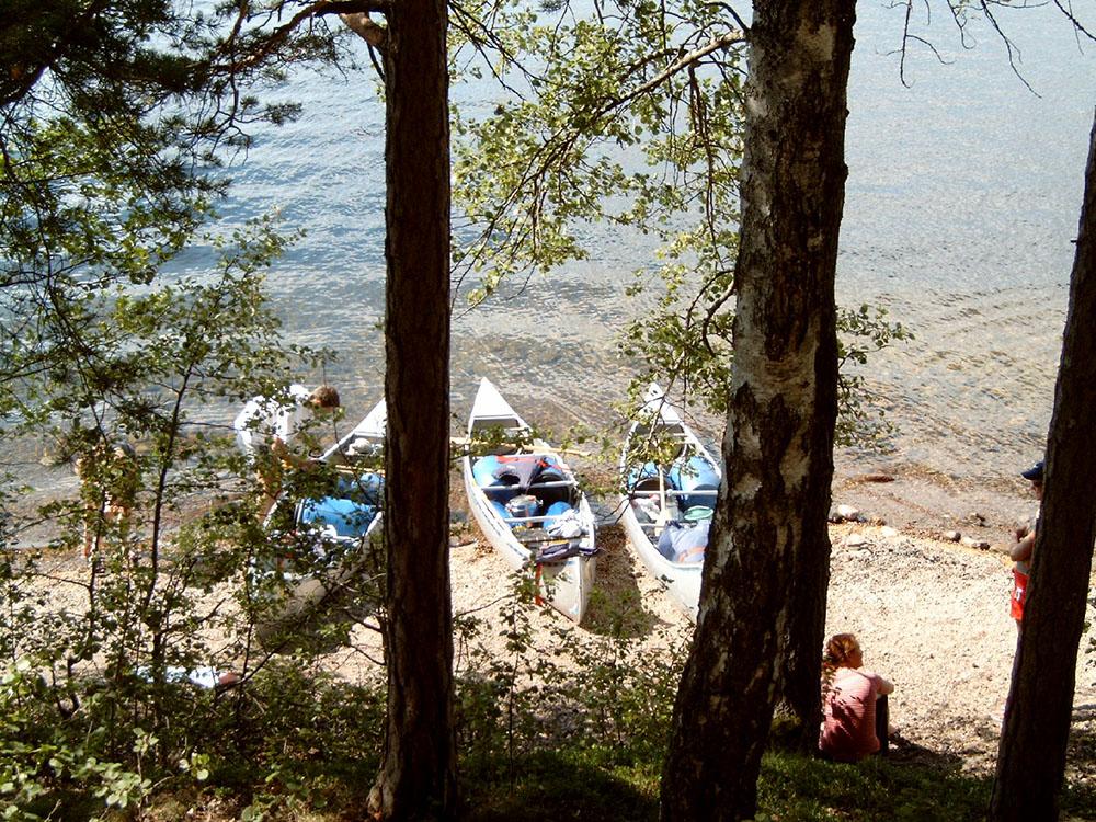 mit dem Kanu unterwegs in Dalsland, Schweden