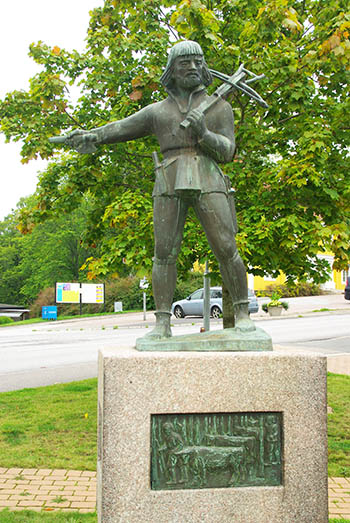Dacke-Statue in Virserum