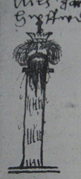 Dackes Ende in der Chronik von Johan Petri Klint