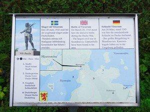 Infotafel über die Schauplätze der Schlacht bei Virserum