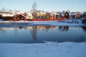Falun im Winter