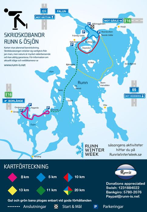 Eislaufen auf dem See in Falun