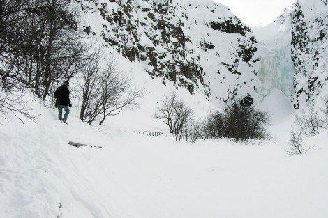Am zugefrorenen Njupeskär im Fulufjäll