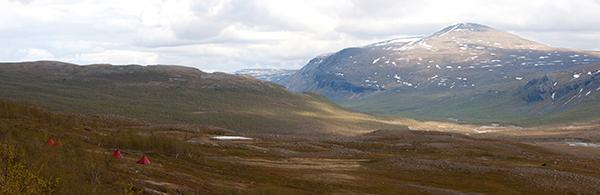 In Lappland ist die Landschaft karg.