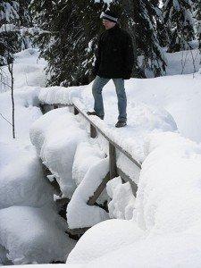 Meterhoch Schnee im Fulufjäll
