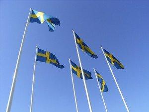 Schwedische Flaggen