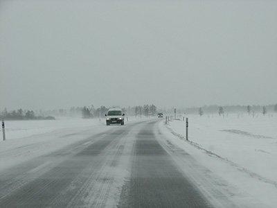 Winter auf den Straßen in Dalarna
