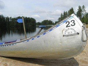 Mit dem Kanu auf dem Svartälven