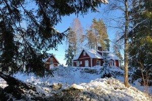 Das neue Heim der Auswanderer in Schweden