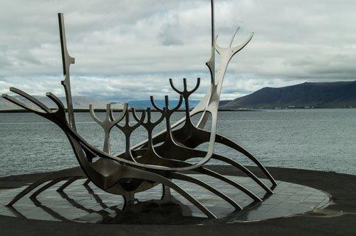 Wikingerboot in Reykjavik