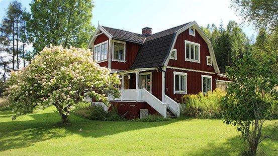 traumhaftes rotes Schwedenhaus