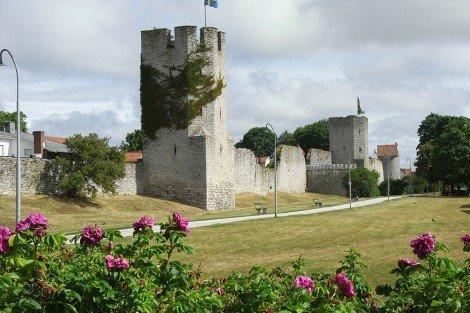 Stadtmauer von Visby auf Gotland