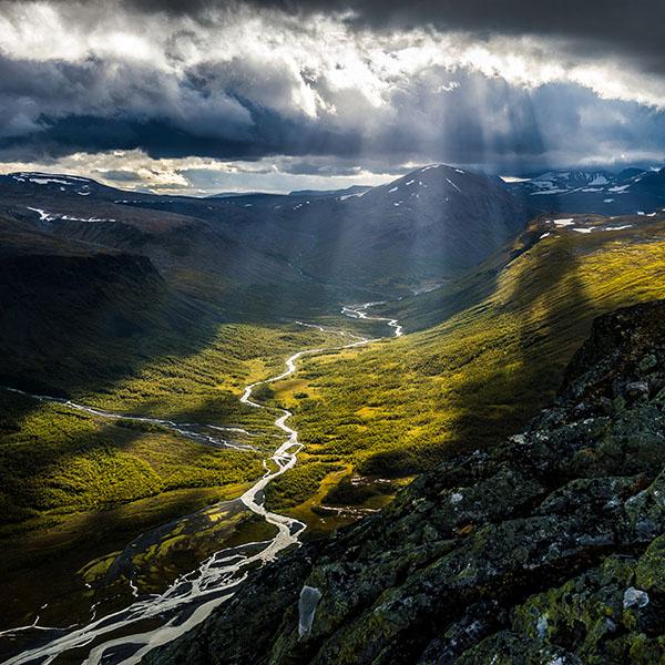 Magische Orte: Blick ins Rapadalen im Sarek, Schweden