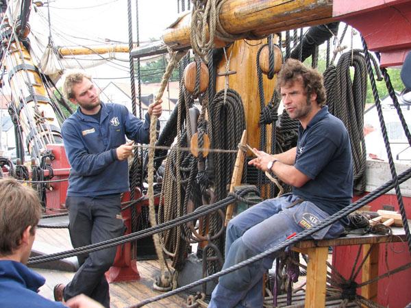 Arbeit an Bord des Ostindienfahrers Götheborg