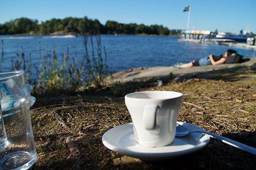 Entspannung in den Schären vor Stockholm
