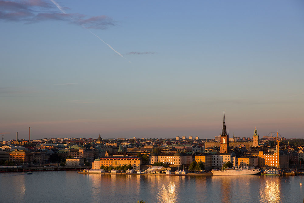 Stockholm in der Abendsonne