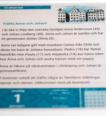 Blick in den Sprachkalender Schwedisch