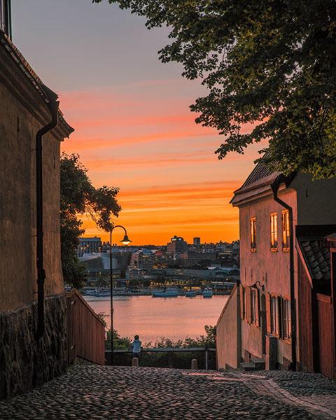 Abendstimmung in Stockholm befintligt_ljus