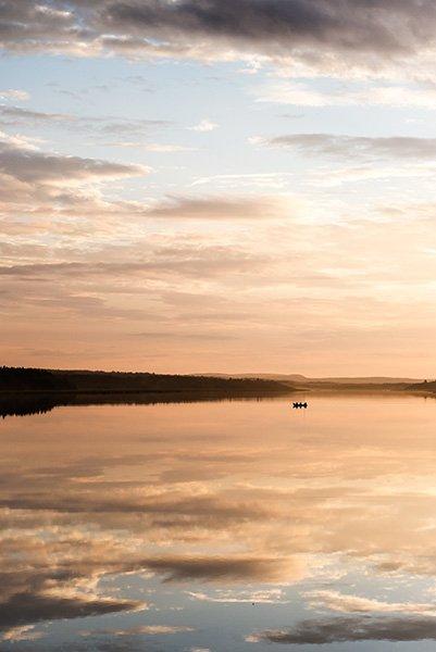 Einsames Boot, Foto: vasterdrottningen