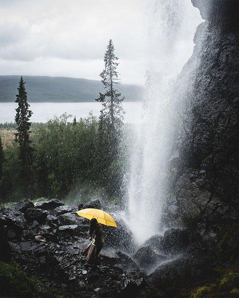 Der Wasserfall Brudslöjan, Foto: vasterdrottningen