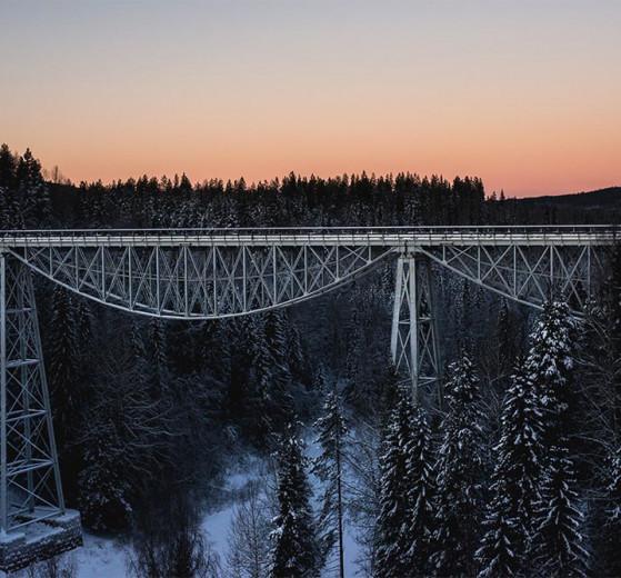Brücke bei Tallberg Vasterdrottningen