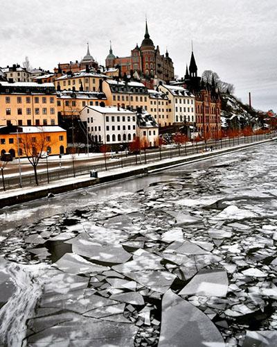 Eisiges Stockholm, Foto: Saltis77