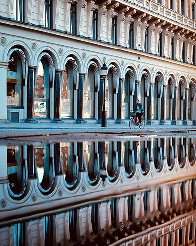 Spiegelung in Stockholm, Foto: Saltis77