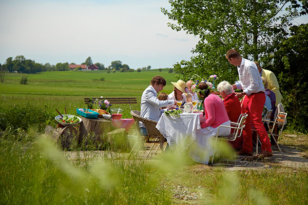 Lunch an Midsommar