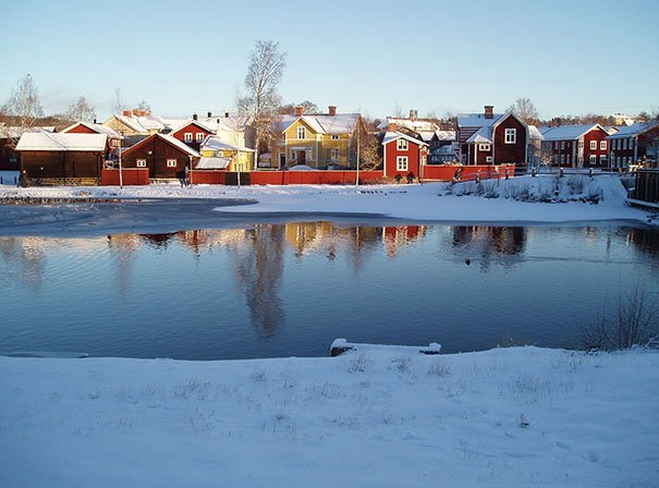 Eine der Weltkulturerbe-Städte in Schweden: Falun