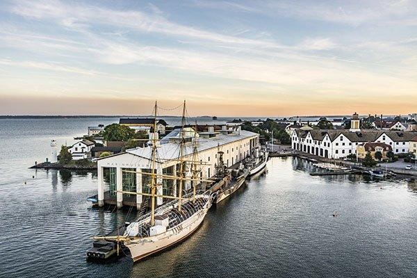 Blick auf den Hafen von Karlskrona