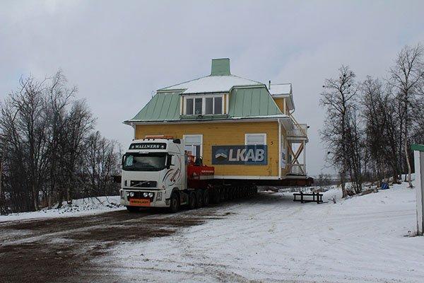Umzug eines Hauses in Kiruna