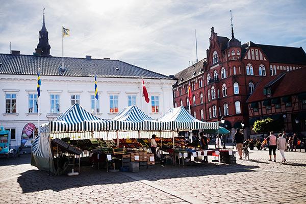 Eine der südlichsten Städte Schwedens: Ystad