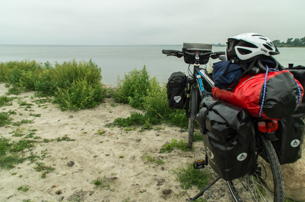 Mit dem Fahrrad an der schwedischen Ostsee
