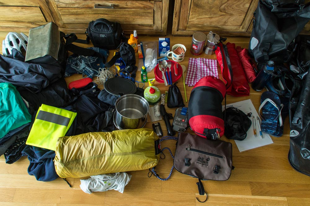 Packliste für die Radtour durch Schweden