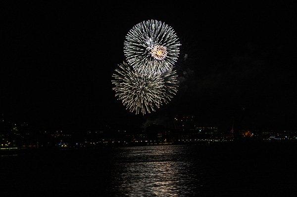 Silvester-Feuerwerk über Göteborg