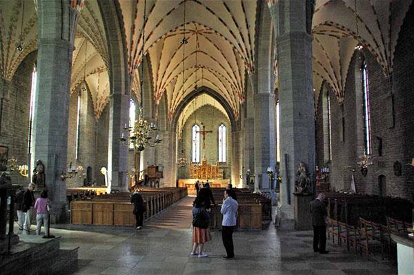 Im Inneren der Klosterkirche in Vadstena
