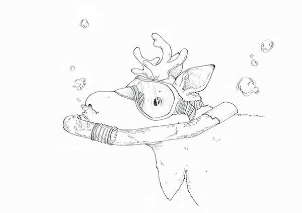 Tiefer eintauchen - Elch