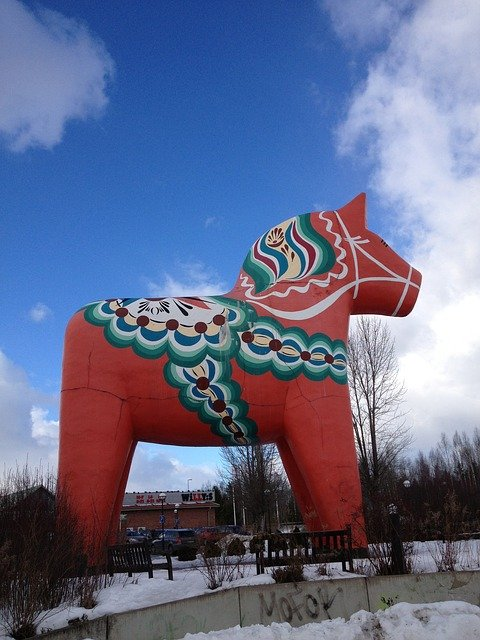 Das größte Dalahäst in Alvesta