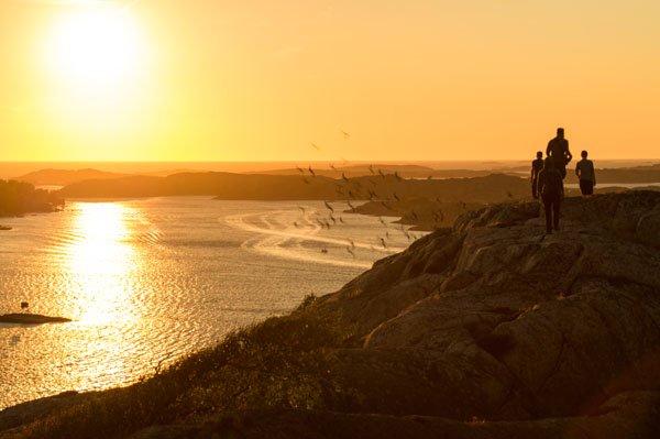 Sonnenuntergang bei Fjällbacka