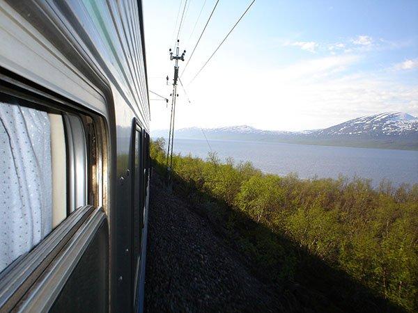 Mit dem Zug nach Lappland
