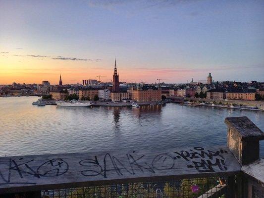 Einer der beliebtesten Aussichtspunkte Stockholms: Monteliusvägen