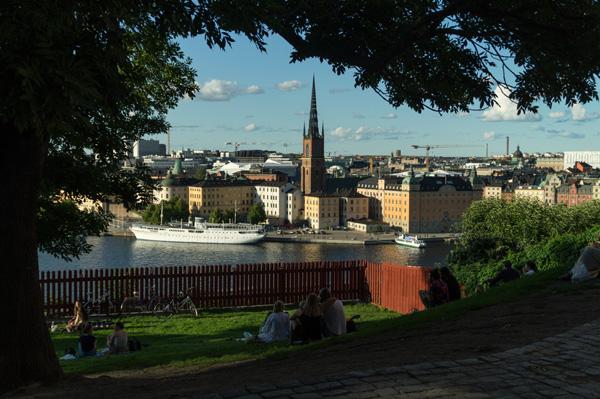 Ivar Los Park: Blick auf Riddarholmen