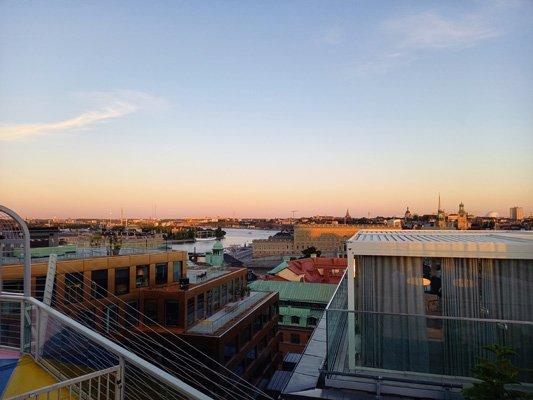 Aussicht vom TAK in Stockholm