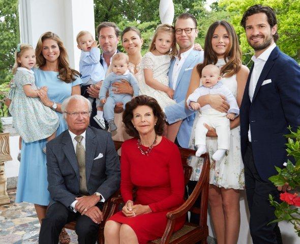 Königshaus, Königliche Familie Schweden 2016