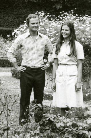 Das Königspaar auf Schloss Solliden