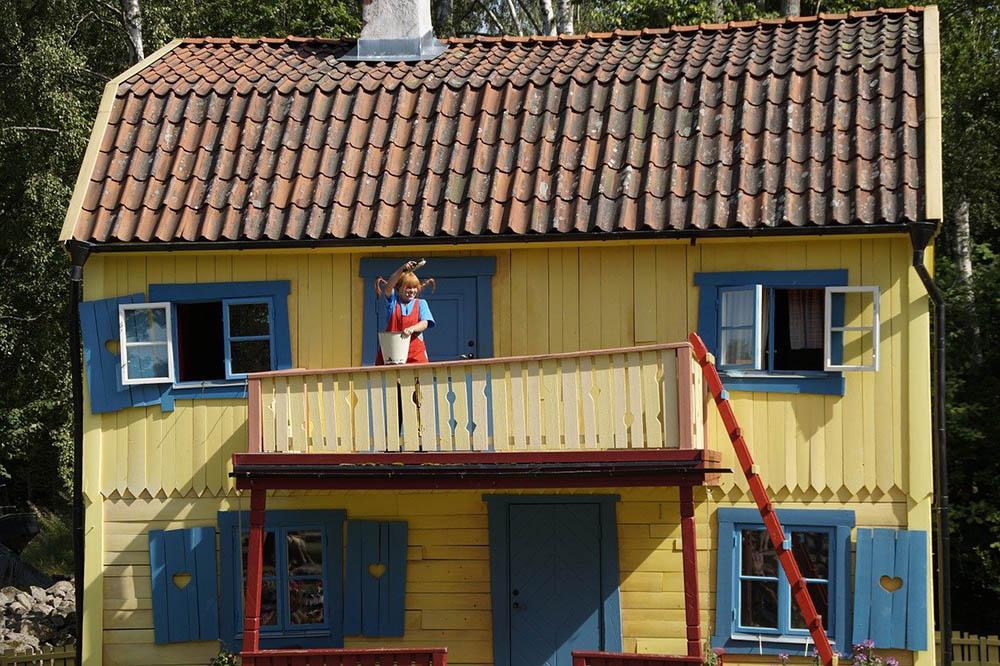 Pippi Langstrumpf in der Villa Kunterbunt